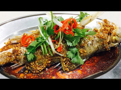 The Secret Of Steaming Fish Without Any Fishy Smell   Steamed Fish With Garlic & Soy Sauce