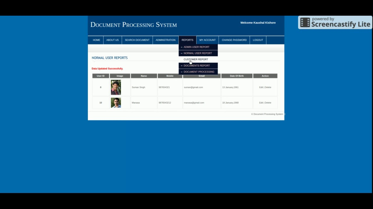 PHP And MySQL Project On Document Tracking System YouTube - Document processing system