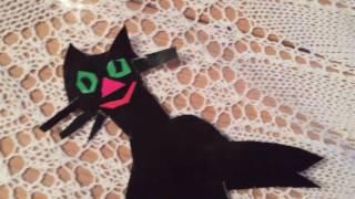 Как появился черный кот (апликация). How to make a black cat (aplication)