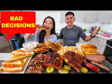SOUTHERN BBQ + RIBS + MAC N CHEESE | MUKBANG | Eating Show