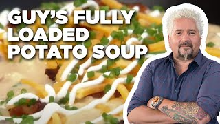 Guy's Fully Loaded Potato Soup | Food Network