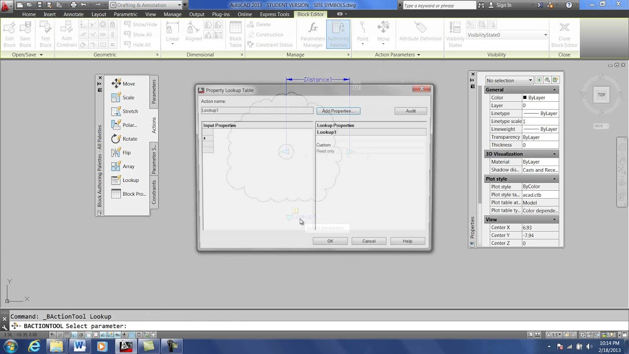 AutoCAD Dynamic Block Lookup and Scale