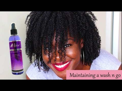 How to maintain a wash and go daily (morning and night)