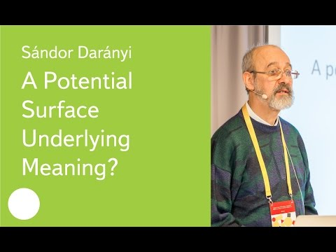 A Potential Surface Underlying Meaning? - Prof. Sándor Darányi