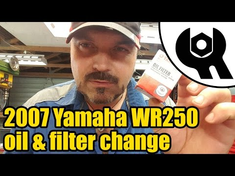 #1827 - 2007 Yamaha WR250 oil & filter change