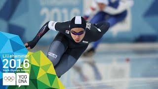 Speed Skating 1500m - Min Seok Kim (KOR) wins Men