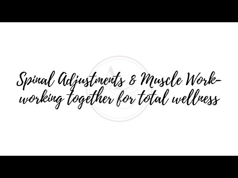 Accordo Chiropractic: Spinal Adjustments & Muscle Work working in together for Total Wellness