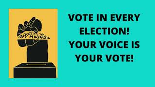 Subscribe, Like, Hit the Bell Vote Voiced Creation: 56th anniversary of the Voting Rights Act.