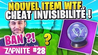 YOSHI BAN OF FORTNITE 🔥 CHEAT FOR INVISIBLE 😱 NEW ITEM! ZAP FORTNITE #28