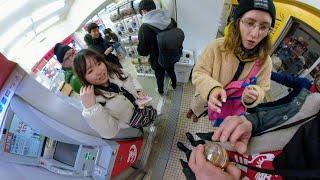 Покупка шапочки для кота на рыбном рынке Цукидзи в Токио | Gopro Fusion Overcapture