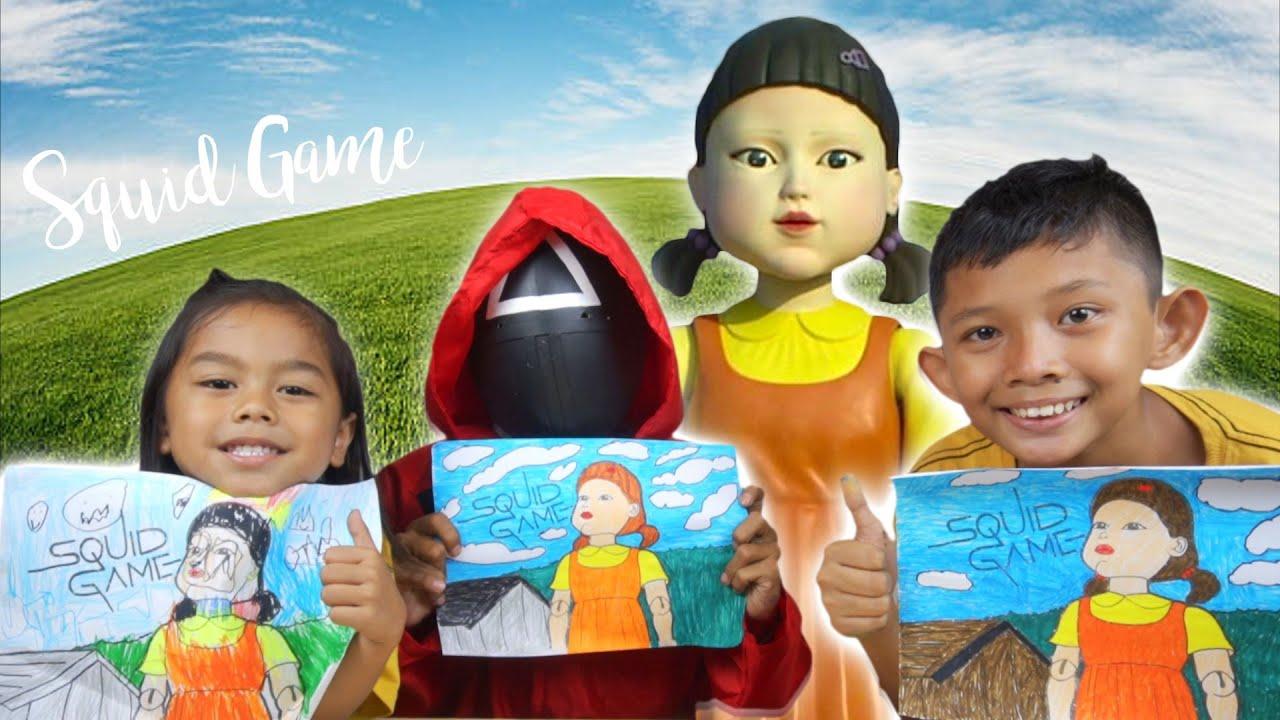 MEWARNAI GAMBAR BONEKA SQUID GAME LUCU | SIAPAKAH YANG MENANG!!! | Princess Rara