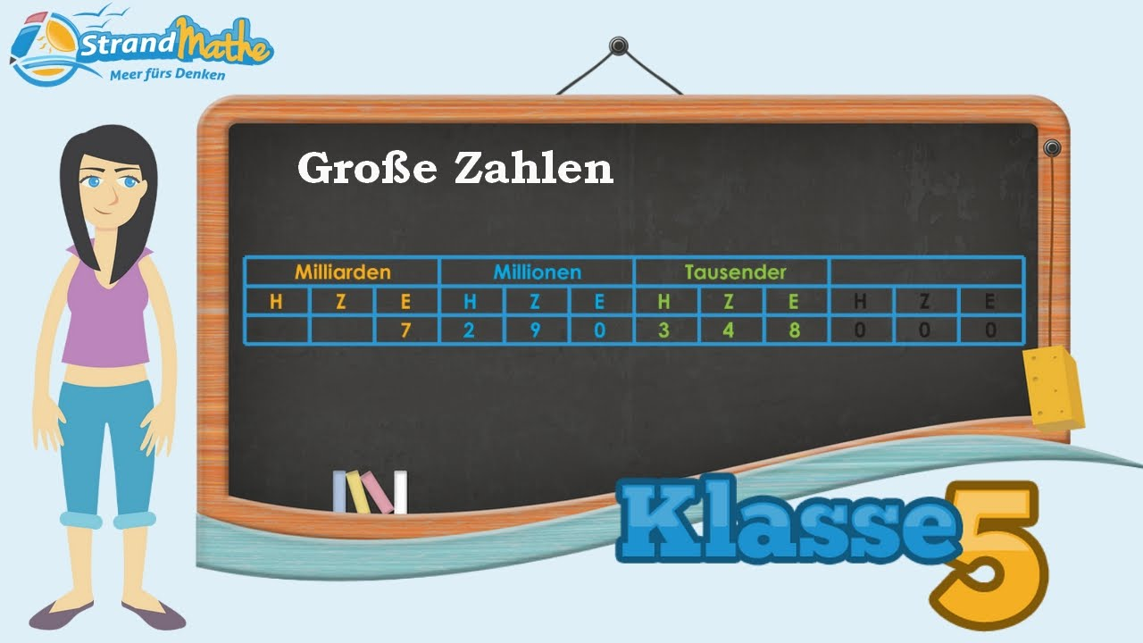 Große Zahlen schreiben Zehnersystem || Klasse 5 ☆ Wissen - YouTube