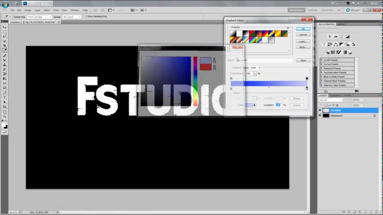 Tutorial1how to create a two color font adobe photoshop cs5 tutorial1how to create a two color font adobe photoshop cs5 ccuart Image collections