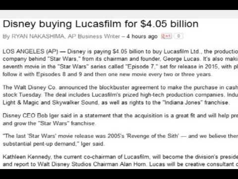 Disney To Buy Lucasfilm Youtube