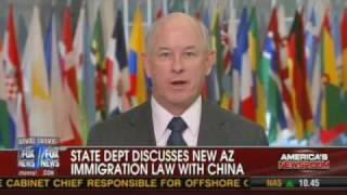 China complains about U.S. Human rights and AZ Immigration Law - PJ Crowley comments