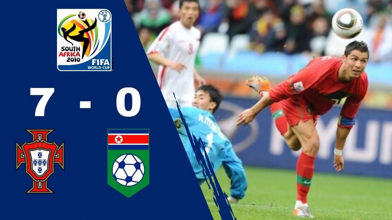 Résumé PORTUGAL 7 - 0 CORÉE DU NORD | Phase de groupe | Coupe Du Monde 2010 [HD] [CANAL+]