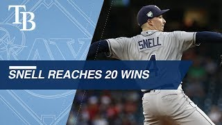 Snell notches his first career 20 win season