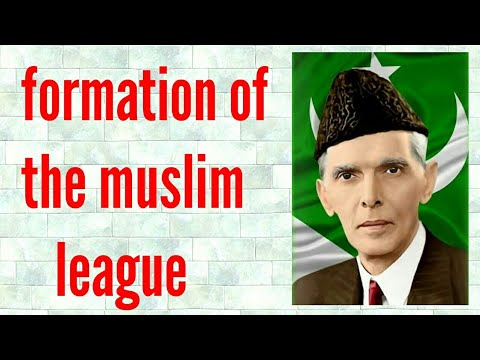 Formation of the Muslim league ( history) ICSE class 10