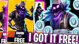 "HOW I GOT THE NEW RAVEN SKIN FREE!! | ""How To Earn Raven Skin + VBucks in Fortnite"""