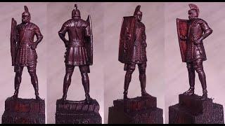 Обработка статуэтки римлянина на станке с ЧПУ. Cтанок от компании \