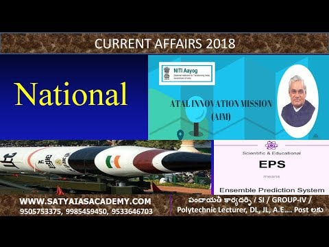 CURRENT AFFAIRS 2018 NATIONAL ISSUES CLASS 3