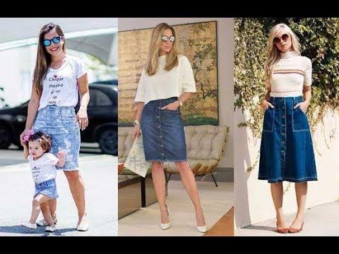 30 Ideas combinar tu falda jeans Moda 2019 - YouTube 601ba4a033c7