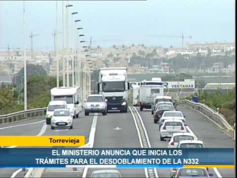 Torrevieja: El ministerio anuncia que inicia los trámites para el desdoblamiento de la Nacional 332