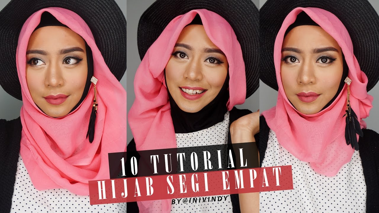 10 Tutorial Hijab Segi Empat  10 Hijab Style Paris  IniVindy  YouTube