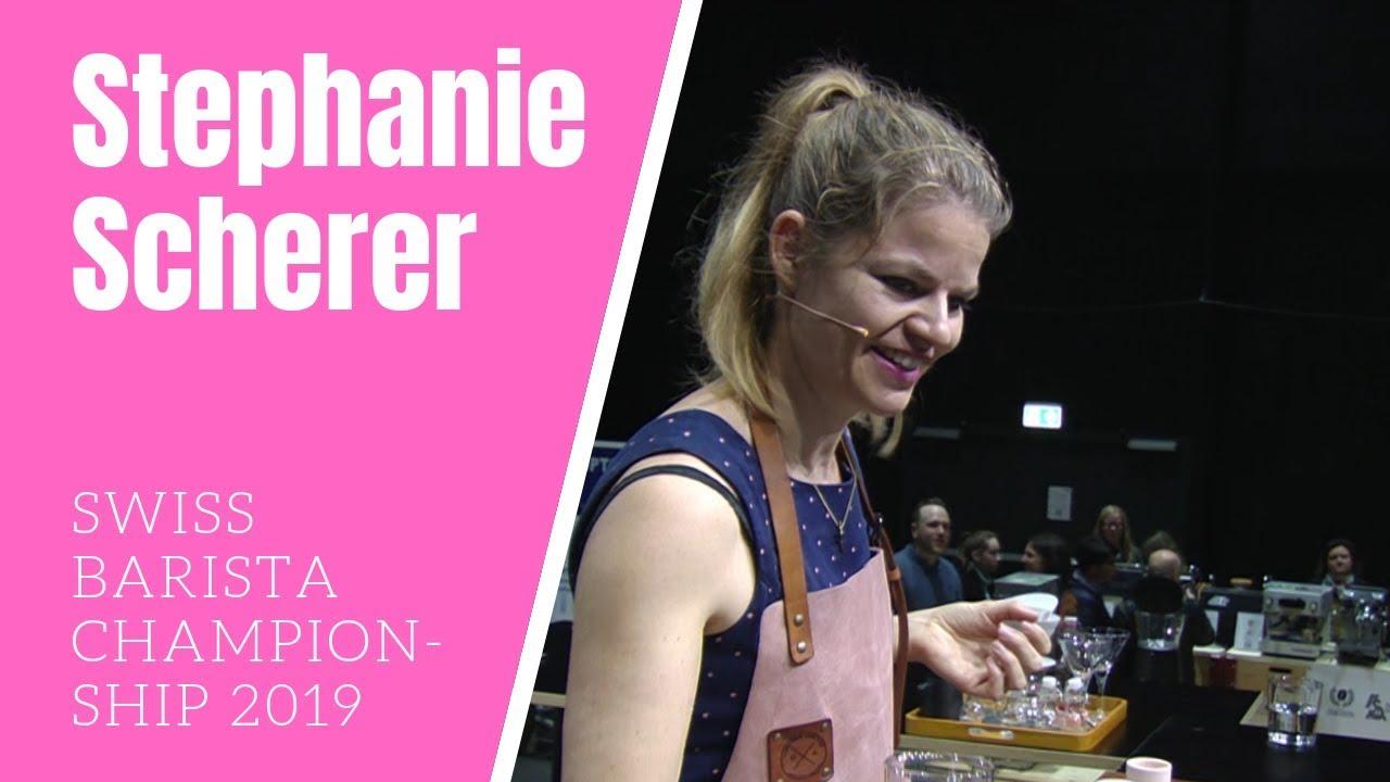 Stephanie Scherer: Barista Finale Schweizermeisterschaft 2019