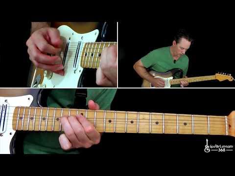 Stevie Ray Vaughan - Scuttle Buttin' Guitar Lesson (Full Song)