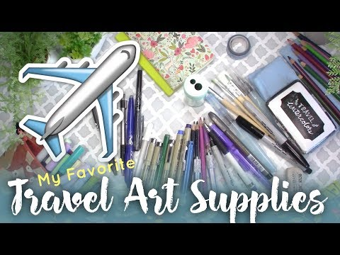 My Travel Art Supplies // Favorite Art Supplies While Travelling