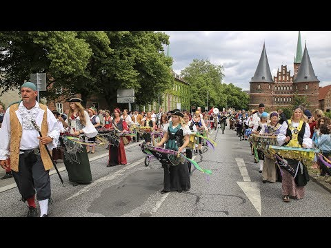 Lübecks Freibeutermukke - 169. Volksfestzug Lübeck 2017 - 4K/UHD