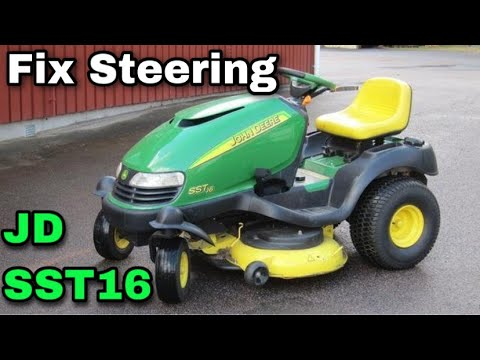 how to fix the steering on a john deere sst16 riding mower actuator rh youtube com John Deere SST16 Steering Actuator John Deere SST16 Steering Parts