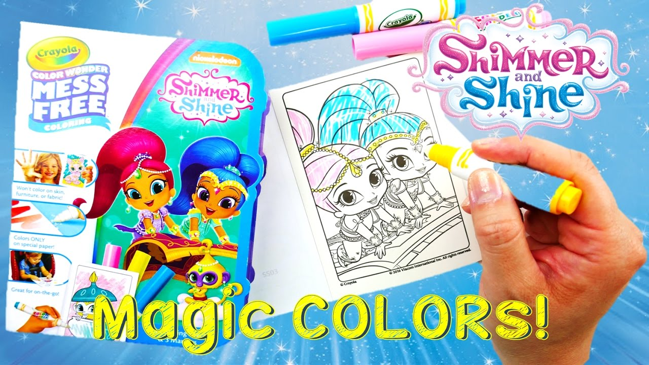 color wonder shimmer and shine magical coloring travel set evies toy house - Color Wonder Books