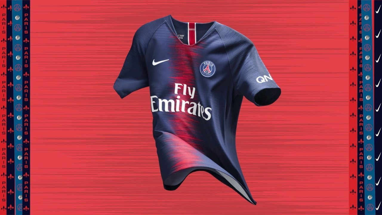 0d1c80a766400 HOME SHIRT 2018 - 2019 - PARIS SAINT-GERMAIN - YouTube