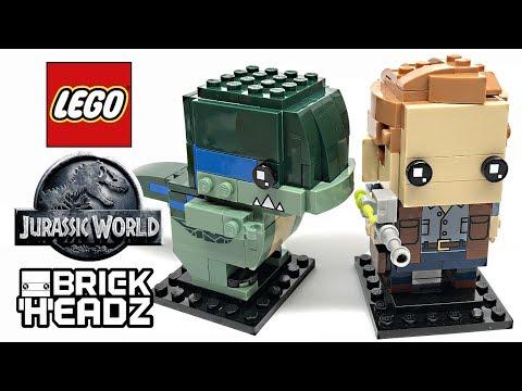 LEGO Jurassic World Brick Headz review! 2018 set 41614!
