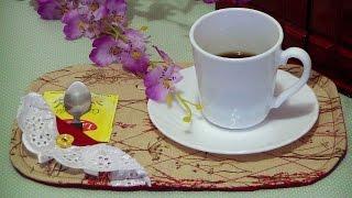 Toalhinha de chá ou Mug Rug