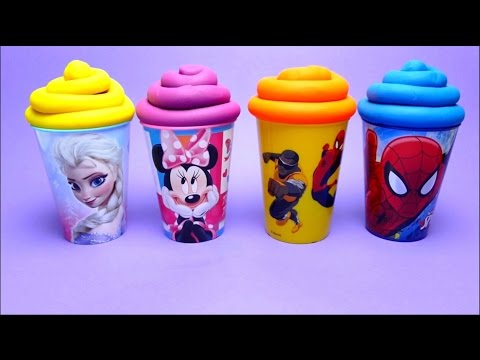 Thumbnail: Disney Princess Kung Fu Panda Nursery Rhymes - Candy Surprise Toys Play-Doh Compilation