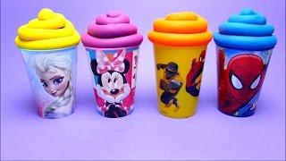 Disney Princess Kung Fu Panda Nursery Rhymes - Candy Surprise Toys Play-Doh Compilation