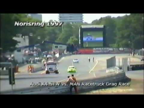 Norisring 1997 - MAN Racetruck vs. Audi A4 Drag Race