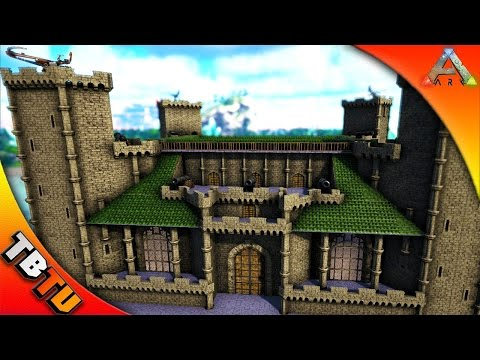 ARK CASTLE HOUSE BUILD! ARK MEDIEVAL ARCHITECTURE! ARK Building Mods - ISO Crystal Isles