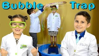 Giant Bubble Trap Experiment JoJo's Science Show