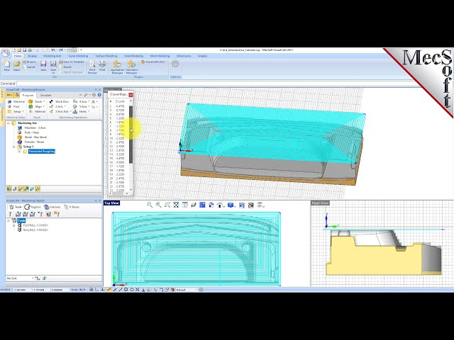 VisualCAD/CAM 2021: Introduction to 3 Axis Machining
