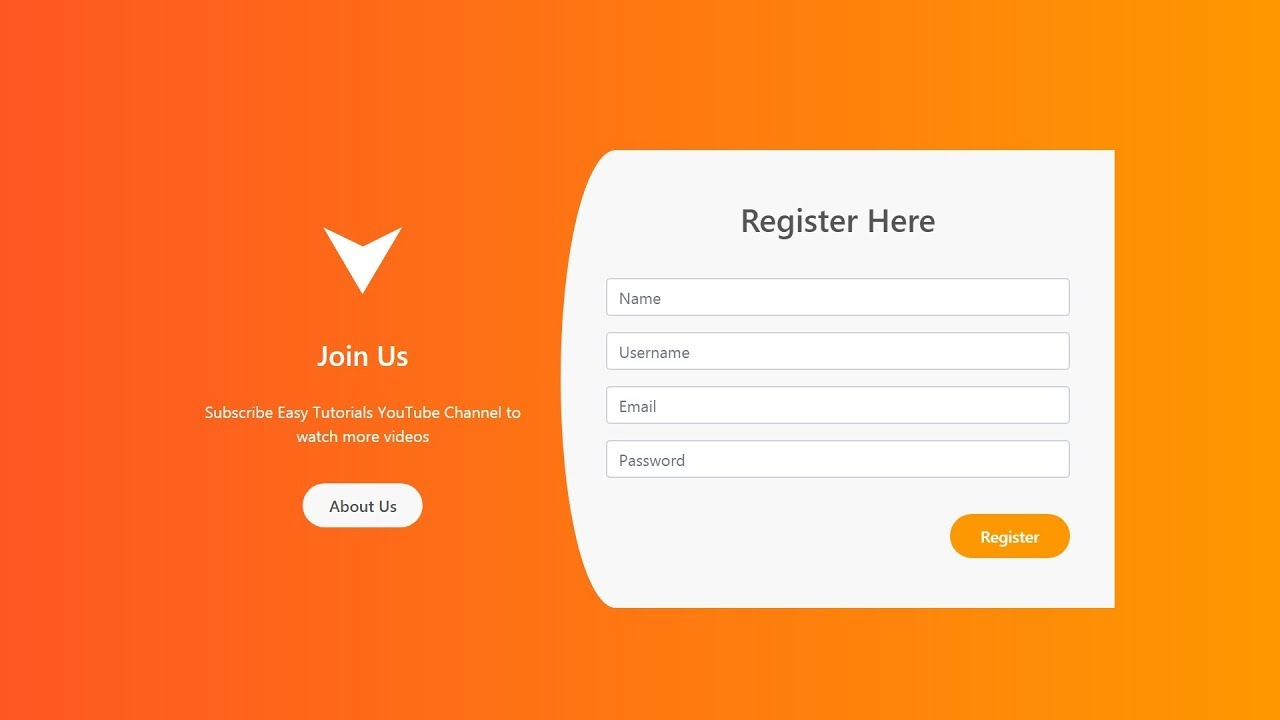 Registration Form Design Using Php, How To Make Registration Page Using Html And Css Login Registration Form Design, Registration Form Design Using Php