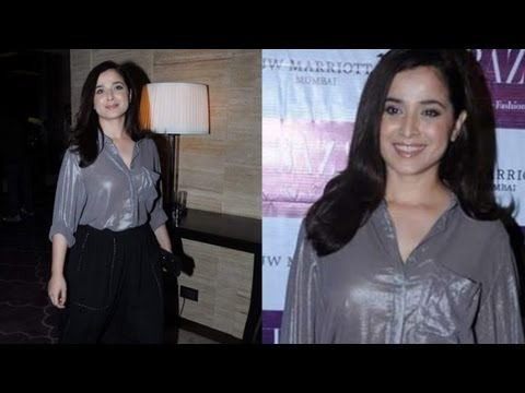 Simone Singh in Shine Low Neck Shirts at Harpers BAZAAR India Event