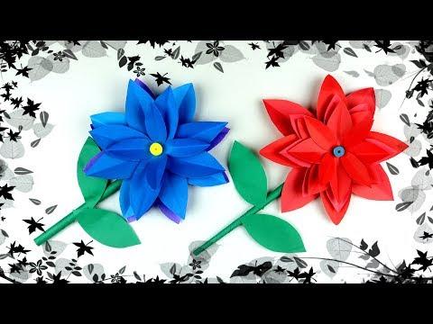 Diy Paper Dahlia Flowers | Popular Craft | How To Make Paper Dahlia Flowers Step By Step