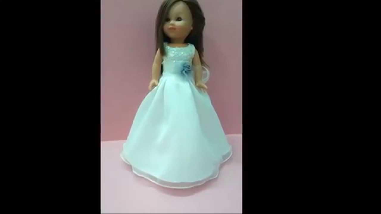 muñecas de comunion VESTIDOS A JUEGO CON LA NENA - YouTube