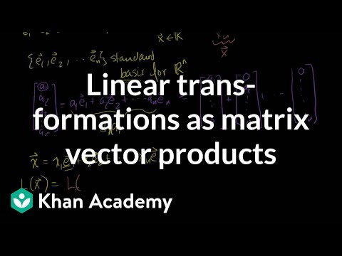 Linear transformations as matrix vector products | Linear Algebra | Khan Academy
