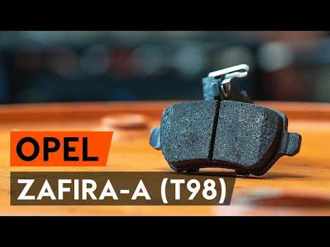 Как да сменим задни спирачни накладки / накладки наOPEL ZAFIRA-A (T98) [ИНСТРУКЦИЯ AUTODOC]
