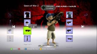 Gears Of War 3 XBox Live Avatar Marketplace Items (New Additions 5/28/11)